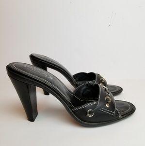Tod's Ritz Villa heeled leather slides